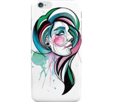 Pretty Watercolor Lady iPhone Case/Skin