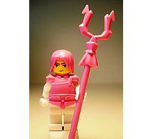 Pink Chinese Hero Warrior Custom Minifig Photographic Print