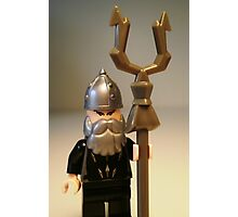 Mongolian Warrior Chief Custom Minifig Photographic Print