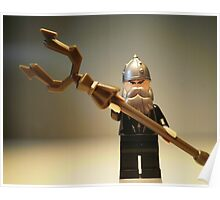 Mongolian Warrior Chief Custom Minifigure Poster