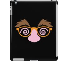 April fools day mask disguise with big nose mustache and twirly eyes iPad Case/Skin