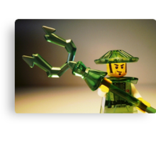 Ching Dynasty Chinese Warrior Custom Minifigure Canvas Print