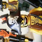 Pirate Captain Minifigure with Flame Torch by Chillee