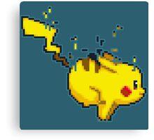 Pixel Pikachu Canvas Print