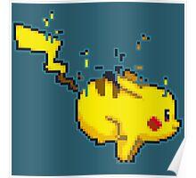 Pixel Pikachu Poster