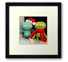 Ice-Bat & Cinko Xmas Framed Print