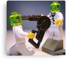 Doctor Toxic with Chainsaw, Custom Minifig Canvas Print