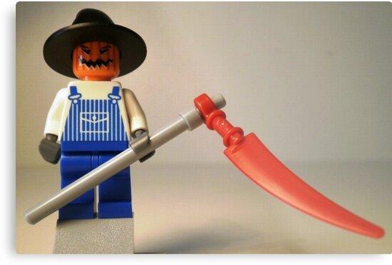 Halloween Scarecrow with Scythe, Custom Minifig by Customize My Minifig