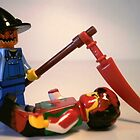 Scary Halloween Scarecrow Custom Minifigure & Scythe, 'Customize My Minifig' by Chillee