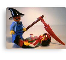 Scary Halloween Scarecrow Custom Minifigure Canvas Print