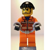 Convict Prisoner Minifig Minifigure with Handcuffs Photographic Print
