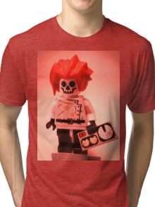 Professor Boom Custom Minifigure with Bomb Tri-blend T-Shirt