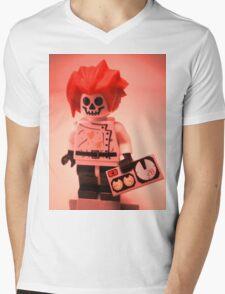 Professor Boom Custom Minifigure with Bomb Mens V-Neck T-Shirt
