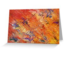 abstract art blue green red Greeting Card
