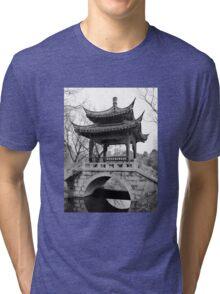 Chinese Pavilion - bw Tri-blend T-Shirt