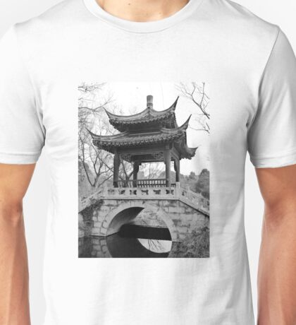 Chinese Pavilion - bw Unisex T-Shirt