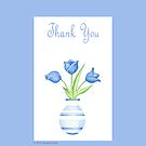 Blue Vase Thank you by mrana