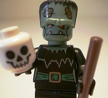 Frankensteins Monster Custom Minifigure with Skull by Customize My Minifig