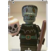 Frankensteins Monster Custom Minifigure with Skull iPad Case/Skin