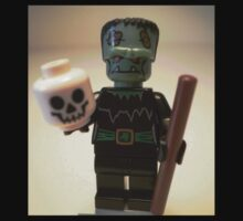 Frankensteins Monster Custom Minifigure with Skull Kids Tee