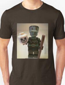 Frankensteins Monster Custom Minifigure with Skull Unisex T-Shirt