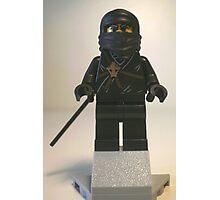 Black Ninja Custom Minifigure Photographic Print