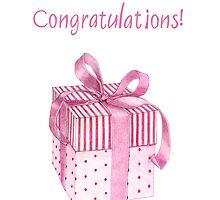 Pink Gift Congratulations by Mariana Musa