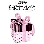 Pink & Black Gift Birthday by mrana