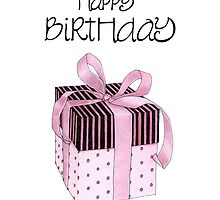 Pink & Black Gift Birthday by Mariana Musa