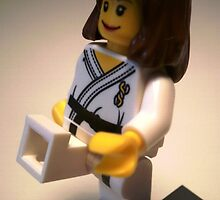 Judo Karate Martial Arts Girl Custom Minifigure by Customize My Minifig