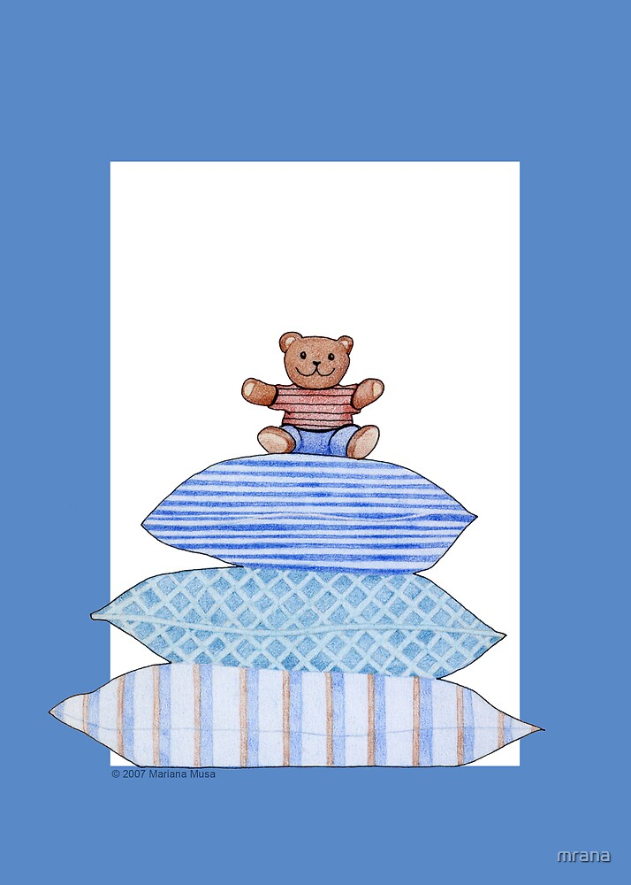 Teddy Bear and Cushions by Mariana Musa