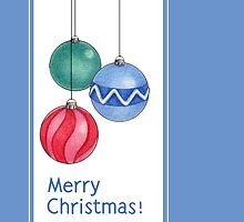 Christmas Baubles Blue by Mariana Musa