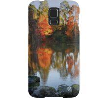 Autumn's fiery reflections Samsung Galaxy Case/Skin