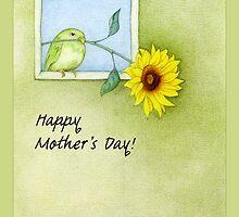 Sunflower Bird Mother's Day by Mariana Musa