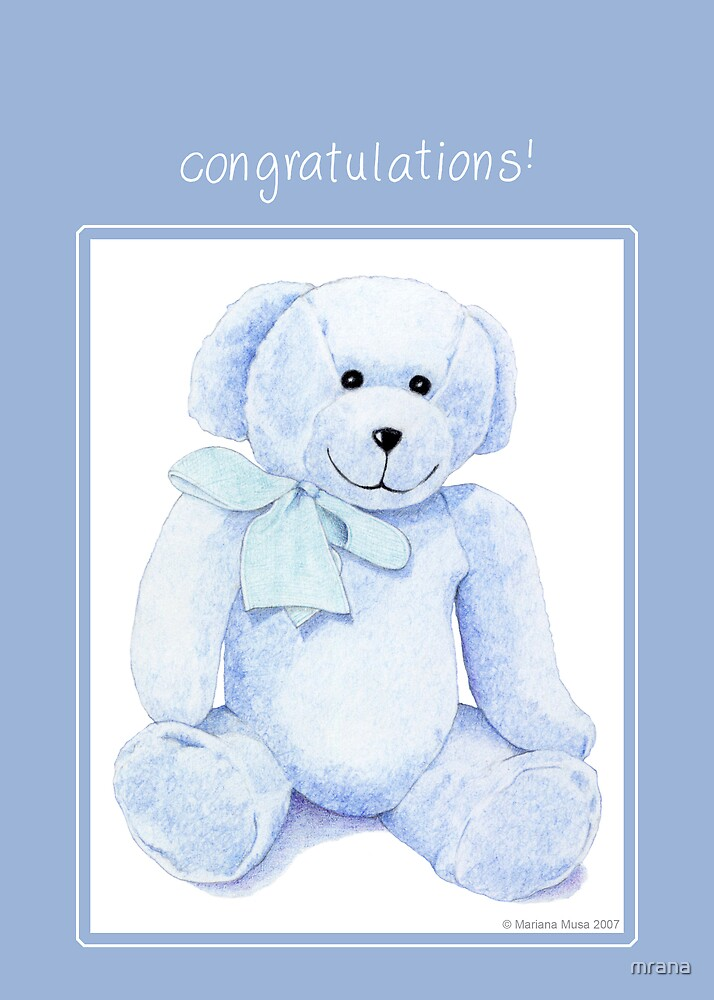 Blue Bear Congratulations by Mariana Musa