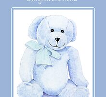 Blue Bear Congratulations by Mariana Musa
