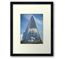 The Sky in The Shard Framed Print