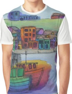 Whitby Harbour Graphic T-Shirt