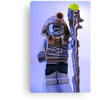 Mummy with Gold Head Gear with Custom Magical Jewelled Staff Canvas Print