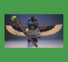 Flying Mummy Minifigure with Wings & Custom Magical Staff One Piece - Short Sleeve