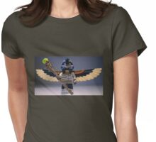 Flying Mummy Minifigure with Wings & Custom Magical Staff Womens Fitted T-Shirt