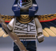 Flying Mummy Minifigure with Wings & Custom Magical Staff Sticker