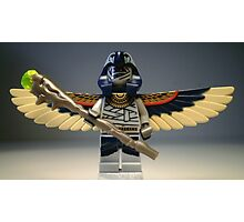 Flying Mummy Minifigure with Wings & Custom Magical Staff Photographic Print