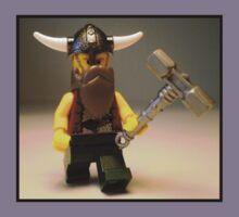 Thor Minifig Viking Custom Minifigure with Custom Beard  Kids Clothes
