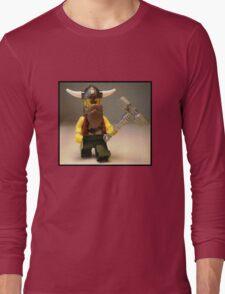 Thor Minifig Viking Custom Minifigure with Custom Beard  Long Sleeve T-Shirt