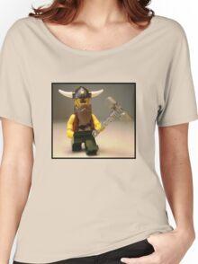 Thor Minifig Viking Custom Minifigure with Custom Beard  Women's Relaxed Fit T-Shirt