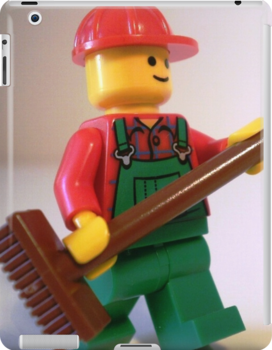 'Bert the Street Cleaner' Minifigure by Customize My Minifig
