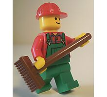 'Bert the Street Cleaner' Minifigure Photographic Print