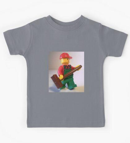 'Bert the Street Cleaner' Minifigure Kids Tee
