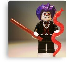 Evil Magician Custom Minifigure with Magic Wand & Snake Canvas Print